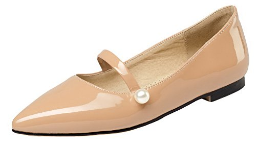 Heels apricot On Shoes Low Toe Pumps Microfiber Women's WeiPoot Pull Solid Pointed 0ZqZRCP