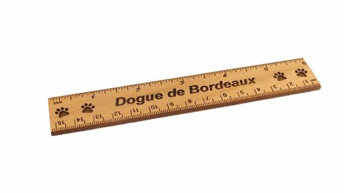 - Dogue de Bordeaux 6 Inch Alder Wood Ruler