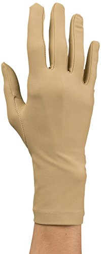 Rolyan Compression Gloves, Pair of Large Full Finger, Wri...