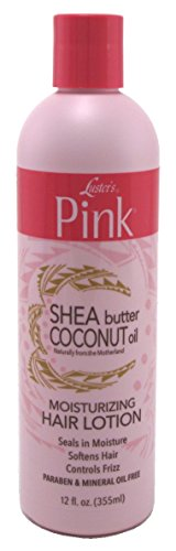 Luster's Pink Shea Butter Coconut Oil Hair Lotion, 12 Ounce (Pink Lotion Hair)