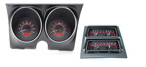 1968 Chevy Camaro w/ Console Gauges VHX System, Carbon Fiber Style Face, Red Display