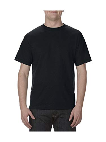 b0cbc793 Alstyle Apparel AAA Men's Classic Cotton Short Sleeve T-shirt, Black, Large  from