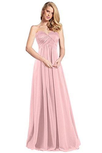 f3922db463b8 ... Abendkleider Herrlich Rock Partykleider Promkleider Herzausschnitt  Bride Hell Lang aus Empire Milano Rosa Chiffon OwqHB ...
