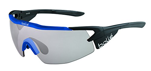Bolle Aeromax Sunglasses Matte Black/Translucent Blue, Smoke by Bolle