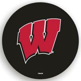 (Fremont Die NCAA Wisconsin Black Spare Tire Cover, One Size, Multicolor)
