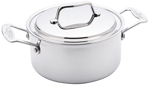 Quart Stock Pot Cover - USA Pan 1510CW-1 Cookware 5-Ply Stainless Steel 3 Quart Stock Pot with Cover, Oven and Dishwasher Safe, Made in the USA, Silver
