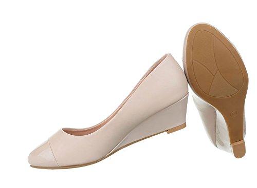 Damen Pumps Schuhe Elegant High Heels Keil Wedges