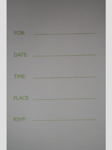 Jackie Shapiro Set of 8 Invitations with Envelopes ~ Glittered Flowers (You're Invited)