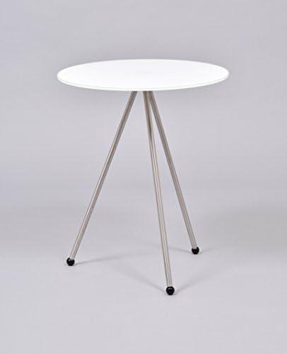 Kopen D-TEC TRES 2 tafel metaal wit/roestvrij staal 60 x 60 x 75 cm OpiTahj