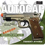 Cap Gun Pistol (Big Game Toys~Beretta 92 Military M9 semi Automatic Pistol Toy Cap)