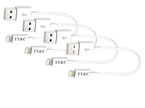 - TT&C Short Compatible with iPhone Charger Cable [ 8 inch White 4 Pack ] Syncing and Charging Data Cord for iPhone 8, iPhone X, iPhone 7, 7Plus, 6, 6s, 6+, 5, iPad Mini, Air, 3/4/5/ iPod ...
