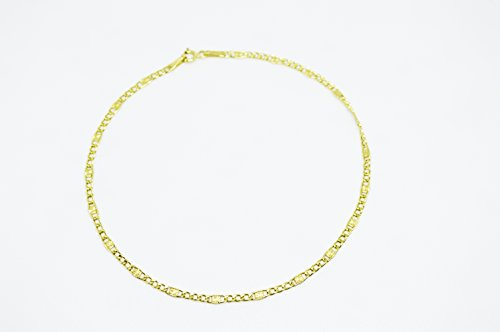 10k Gold Anklet by Yelena Rodriguez Jewelry