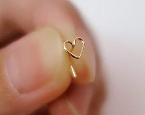 d2a6f7b12 22 Gauge Heart Nose Stud/Heart Tragus Earring/Heart Cartilage Earring/Tragus  Stud/Tiny Nose Stud/Nose piercing/nose ring stud/tiny stud earring/925  Sterling ...