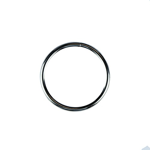 Strapworks Large Metal O-Rings 4-pack, 3.5'' inner diameter, nickel plated - for heavy duty or decorative use by Strapworks