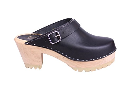 From Lotta Sole Clog Tractor in Black Stockholm High Pwq6w7g