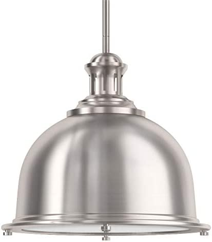 Park Harbor PHPL5081BN Chisum 13 Wide Single Light Single Pendant with Industrial Style Shade