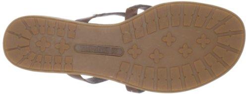 Timberland KENNEBUNK THONG BLACK 27661 - Sandalias de cuero para mujer Marrón