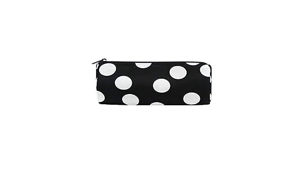 Bonipe - Estuche para lápices de lunares, color blanco y negro: Amazon.es: Oficina y papelería