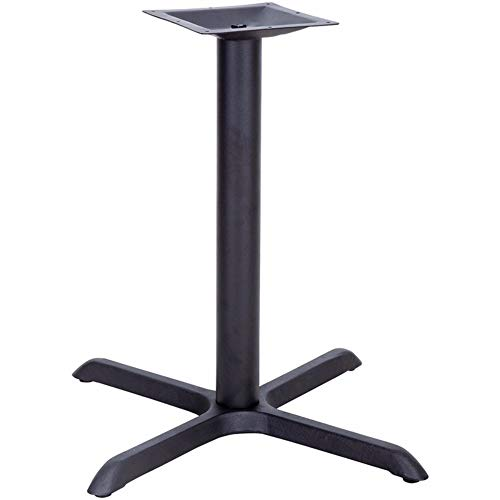 - Offex 33'' x 33'' Restaurant Table X-Base with 4'' Dia Table Height Column