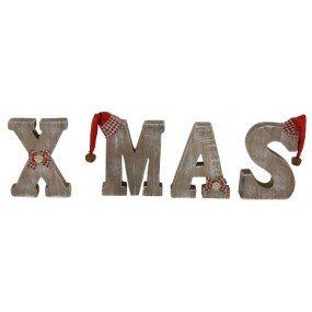Weihnachtsdeko Xmas.Holzbuchstaben Xmas Schriftzug Weihnachtsdeko Weihnachten