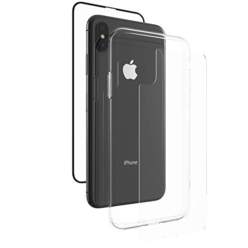 ZAGG InvisibleShield Glass+ 360 - Front + Back Screen Protection with Side Bumpers Made for Apple iPhone XS Max - Clear with Black Borders as Lining by ZAGG (Image #4)