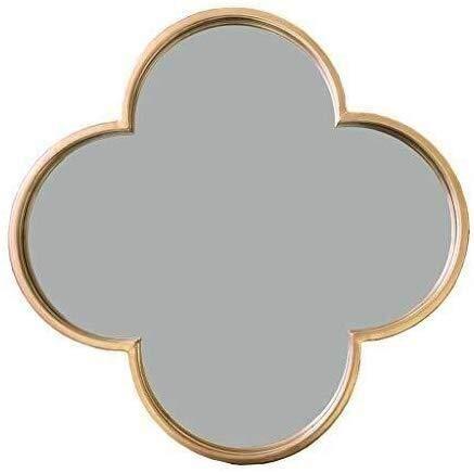 JIANGLI Bathroom Mirror, Wall-Mounted Creative Decoration Wrought Iron Mirror European Bathroom Absorb -