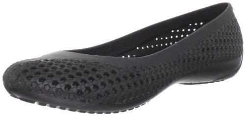crocs CrosMesh Bllt Flt Blk/Blk W4 12240-060-409 - Bailarinas para mujer Negro