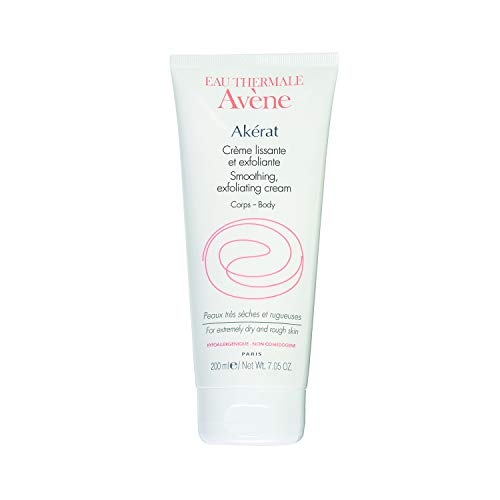 - Eau Thermale Avene Akérat Smoothing Exfoliating Cream, Salicylic & Lactic Acid Body Lotion Exfoliates Dry, Rough Skin, 7.05 oz.