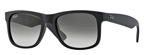 Ray-Ban RB4165 (601/8G) Rubber Black/Gray Gradient 55mm, Sunglasses Bundle w/original case, cloth, booklet and…