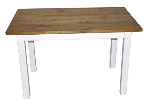 Esstisch Küchentisch Tisch Kiefer massiv Restaurant eckige Tischplatte 100 x 60 cm (Eiche)