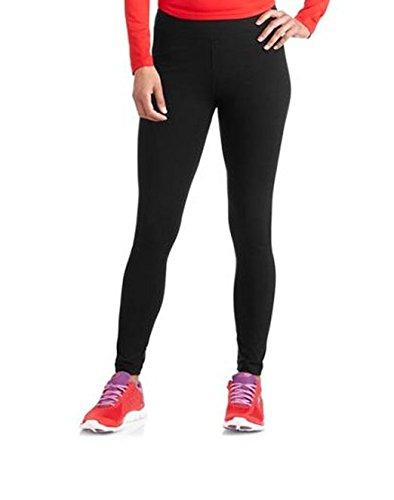 Danskin Now Womens Dri-More Core Leggings Workout Gym Activewear, Large, Black
