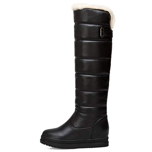 Taoffen Pluie Chaudes Bottes Neige Fourrure Chaleureux Chaussures Femmes Noir xOxwrg