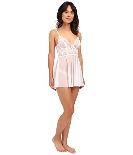 DKNY Intimates Women's Seductive Lights Chemise White/Ballet Pink Lingerie