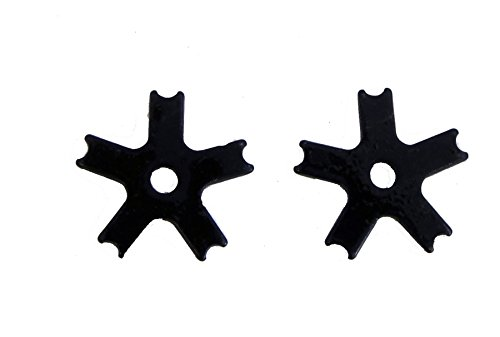 Western Spur Bull Rowels Black Steel 1 1/4 Inch Sold In Pair 5 Point Notched