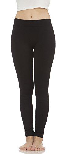 insulated black leggings - 5