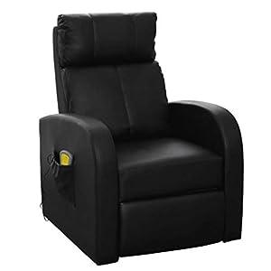 vidaXL Fauteuil de Massage Electrique avec Télécommande Relaxation Chauffage