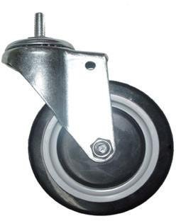 3'' Screw-In Rubber Casters for Wire Shelving (Set of 4, 2 Locking) by Thunder Group