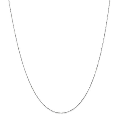 Snake Gold White Ring (14k Gold Rope Chain Necklace with Spring Ring (0.5mm) - White-Gold, 20 in)