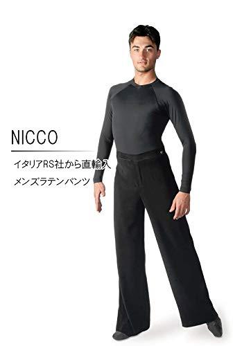 (アールエスアトリエ) RS Atelier 「NICCO」|男性用ラテンパンツ| 社交ダンス|レッスンウェア|ダンス|メンズ|男|男性|パンツ|ボディ|ラテン|競技|デモ|チャチャ|サンバ|ルンバ|ストレッチ B0721MLSX3   48(84cm)サイズ