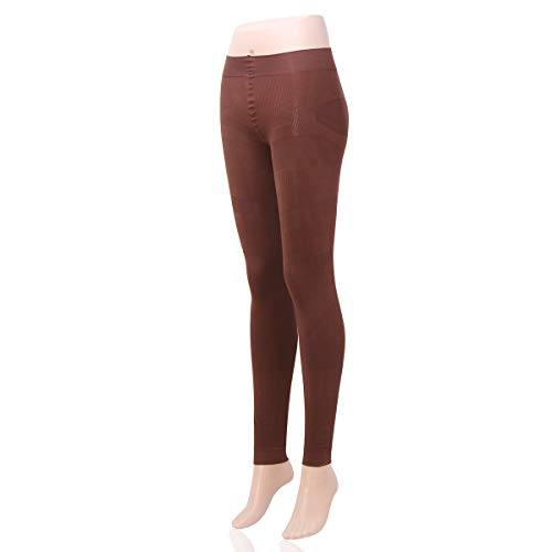 Shaping Tights Shaper Pantyhose Control Top Shapewear Footless Tights Leggings 400D(Coffee)