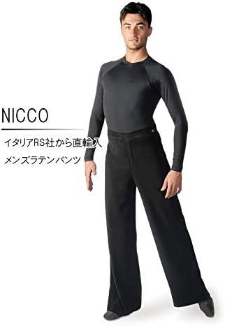 (アールエスアトリエ) RS Atelier 「NICCO」|男性用ラテンパンツ| 社交ダンス|レッスンウェア|ダンス|メンズ|男|男性|パンツ|ボディ|ラテン|競技|デモ|チャチャ|サンバ|ルンバ|ストレッチ  48(84cm)サイズ