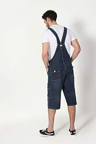 Blakecargomw Cargo Tasche Wash Con Corte Overalls Clothing Company Shorts Uomo Denim Dungaree Midwash Salopette W0O1q