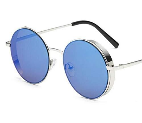 de para Gafas Silver gafas unisex de pesca de UV400 Gafas protección aire de libre retro sol de marco de sol redondo FlowerKui conducir al w6O1qg
