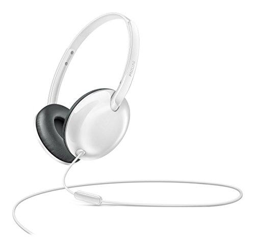 (Philips Flite Ultrlite On Ear Headphones with Mic - White (SHL4405WT/27))