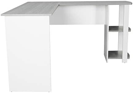 Techni Mobili Modern Side Shelves L-Shaped Computer Desk