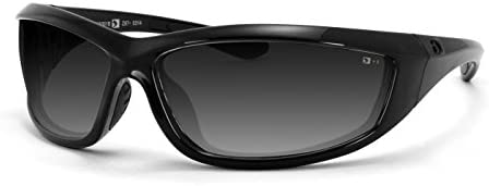 Bobster Charger Sunglasses, Black Frame Smoke Lens