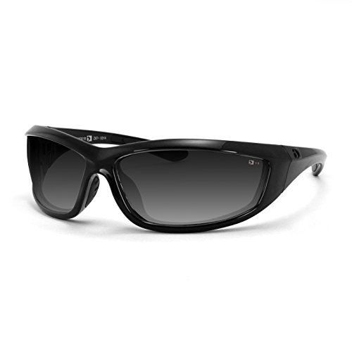 Bobster Charger Sunglasses, Black Frame/Smoke Lens - Edge Sport Sunglasses
