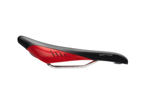 Fizik Gobi XM K:ium Rails Road Bicycle Saddle, Black/Red