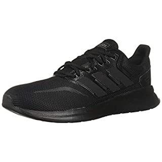 adidas Originals Women's Falcon Running Shoe, Black/Black/Black, 6.5 M US
