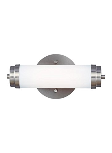 Sea Gull Lighting 4122891S-04, Valverde Glass Wall Sconce Lighting LED, Aluminum